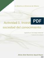 Actividad 1. Investigación y sociedad del conocimiento