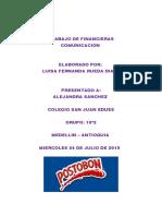 TRABAJO DE FINANCIERAS COMUNICACIÓN.odt
