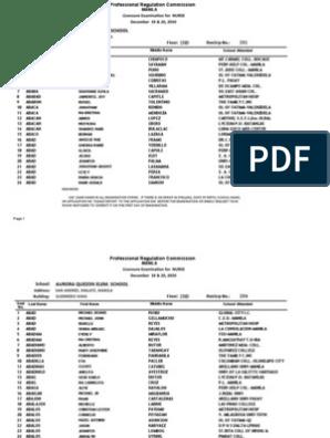 Room Assignments December Prc - Board For Manila Nursing 2010 Exam