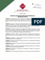Third Declaration of Public Health Emergency