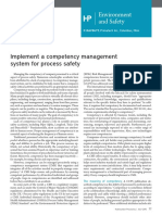 Implement a competency management system for process safety