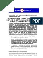 Comercio electrónico España. Expectativas 2010-2011 por Sergio Garasa