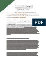 DEFINICIÓN DEMODELO EDUCATIVO