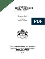 Laporan Akhir Proses Produksi Mesin Frais
