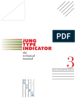 Jung Type Indicator (Jti) Manuale Tecnico