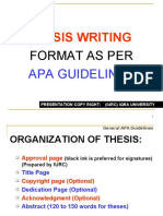 APA Guidelines for Thesis Writing