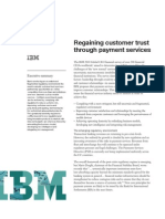 Regaining banking customer trust through payment services