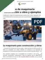 Tipos de maquinaria construcción u obra y ejemplos _ OVACEN