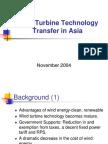 Wind Turbine Technology Transfer in Asia