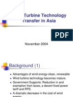 Wind Turbine Technology Transfer in Asia