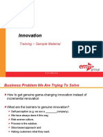 CME 103 Innovation Course Sample Materials Alm