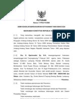 Putusan MK Pengujian UU No 12 Tahun 2008 Tentang perkara Mundur Calon Incumben