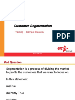 CME 102 Customer Segmentation Sample Materials Alm