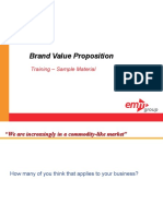 CME 105 Brand Value Proposition Course Sample Materials Alm