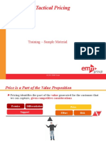 CME 110 Strategic and Tactical Pricing Course Sample Materials Alm