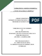 A Study on Operational Audit of Hospital - Kaushalya Hospital