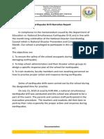 Earthquake Drill Narrative Report.
