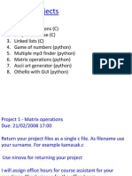 ISE101 Projects