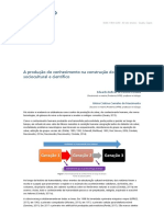 Texto 1 - A produção do conhecimento na construção do saber sociocultural e científico (Córdula; Nascimento, 2018)