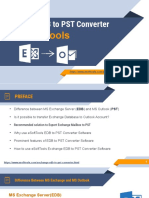 eSoftTools Exchange EDB to PST Converter Software