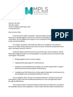 COVID - MN Small Business Coalition Letter 3.16.20