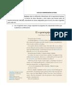 GUÍA DE COMPRENSIÓN LECTORA- 8 básico