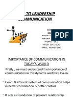 KEYS  TO LEADERSHIP COMMUNICATION