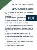 4 PERGUNTAS QUE TODO CRISTÃO PRECISA FAZER
