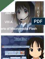 Parts of Macro Media Flash