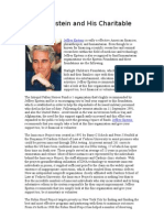 Jeffrey Epstein and His Charitable Works