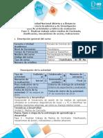 Guía de actividades y Rúbrica de evaluación - Fase 3 - Realizar trabajo sobre medios de contraste clásicos
