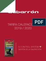 TARIFA CALEFACCIÓN GABARRÓN 2019