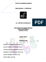 AGENDA ACADEMICA GRADO SEXTO 2019
