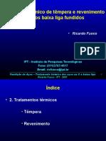 Fundição de aços 5B - Tratamento térmico de Têmpera