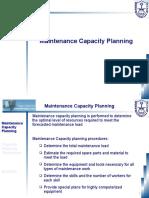 Class 10 - Maintenance Capacity Planning