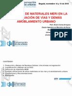 Utilización Materiales MERI, II Foro Malla Vial