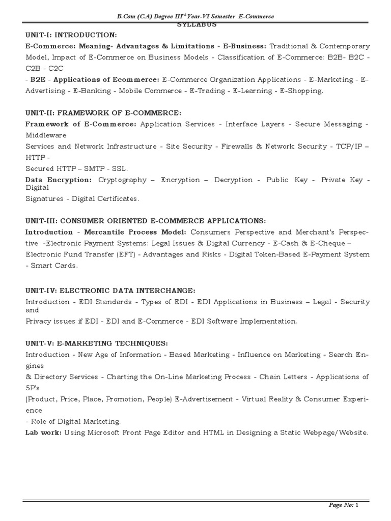 E Commerce Docx E Commerce Key Cryptography