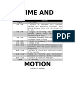 Time and Motion with Reflection sample