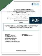 Ex Pfe Gestion de La Logistique de Distribution