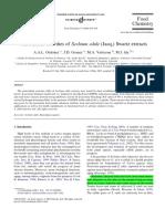 Antioxidant Activity of Sechium Edule
