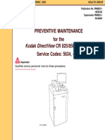 Kodak DirectView CR-825,850 - Preventive maintenance instructions.pdf