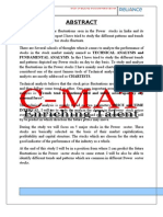 Technical Analysis of Power Sector in India Prepare by Lav Kr. Singh(C-MAT ,Gr. Noida)