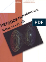 Metodos Numericos con Matlab, 1° ED. - A. Cordero Barbero & E. Martínez Molad