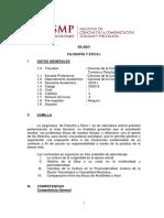 SILABO FILO Y  ÉTICA I 2019