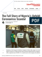 The Full Story of Nigeria's Unfolding Coronavirus Scandal - NewsWireNGR