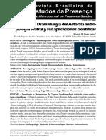 Investigar la Dramaturgia del Actor
