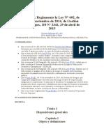 DS 2342 Reglamenta ley 602 Gestión de riesgos