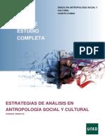 Guia Completa Estrategia de Análisis en Antropología Social y Cultural