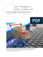 7 strategies to increase traffic, visibility and sales using social networks
