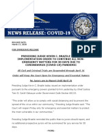 Los Angeles County Court Notification March 17 2020
